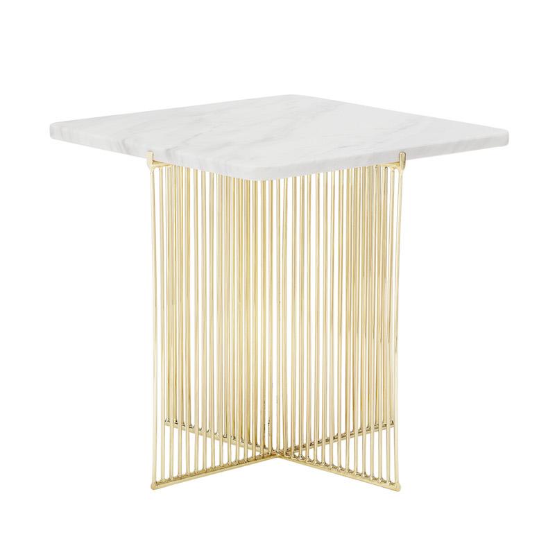 Marble Table With Gold Legs Venice Beach House